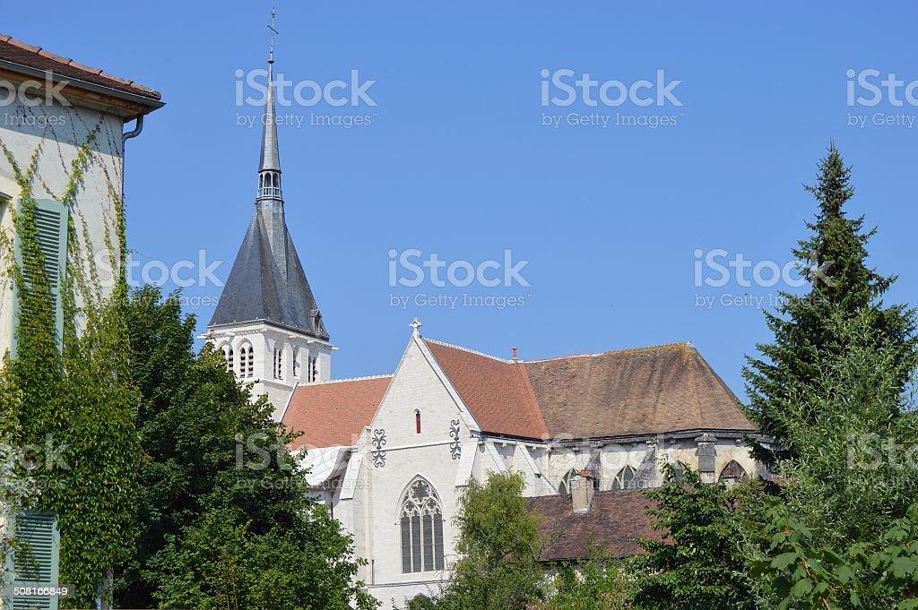 Church in the Champagne region Aube stock photo