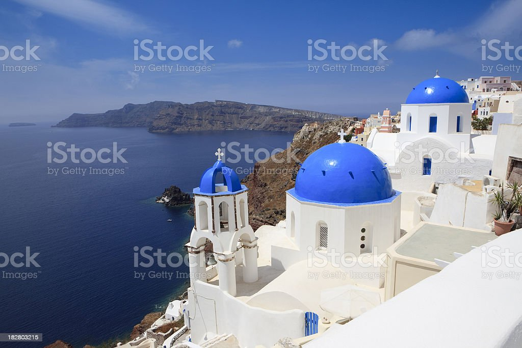 Church in the city of Oia, Santorini royalty-free stock photo