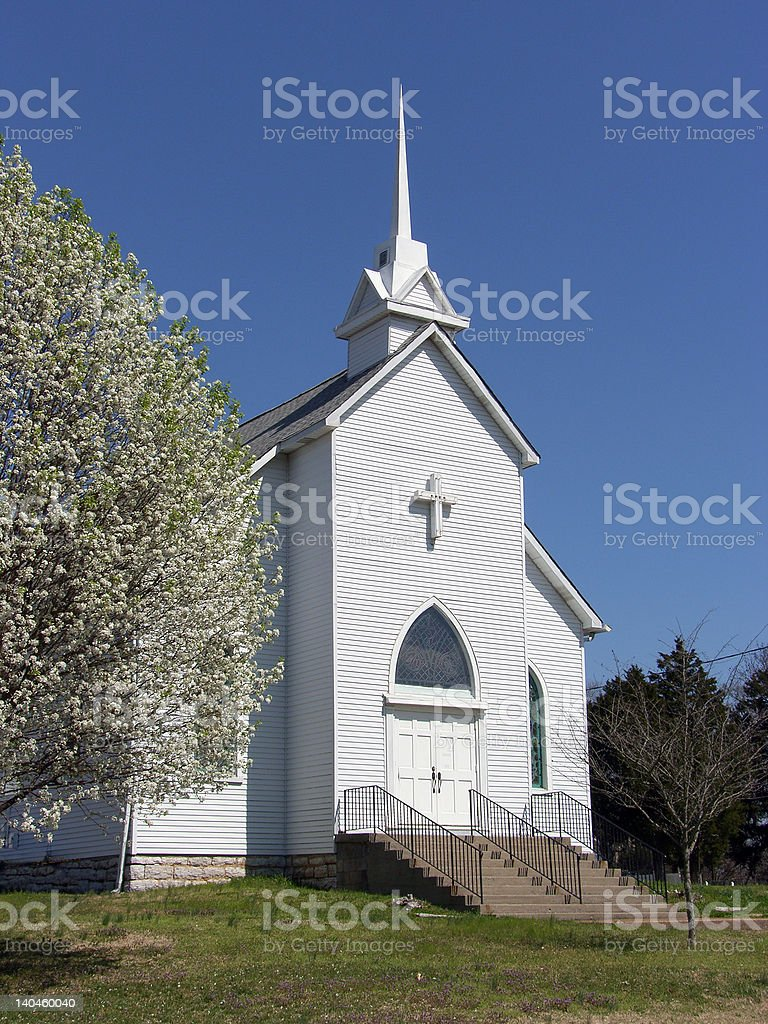Church in the Country stock photo