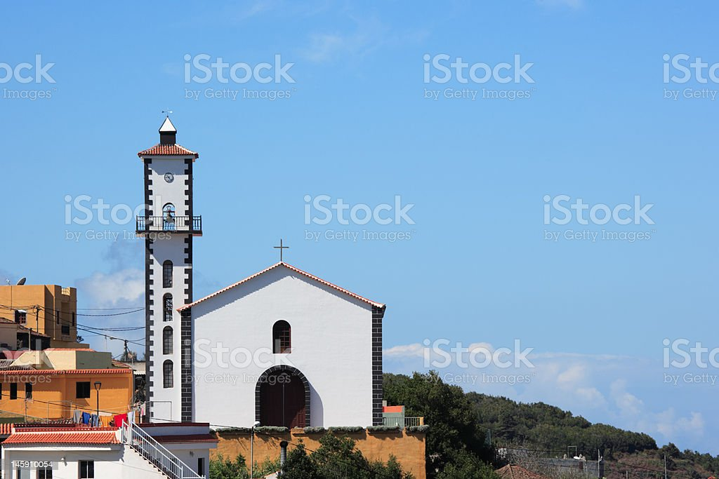 church in the mountains royalty-free stock photo