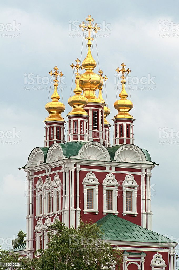 Church in the Novodevichy Monastery stock photo