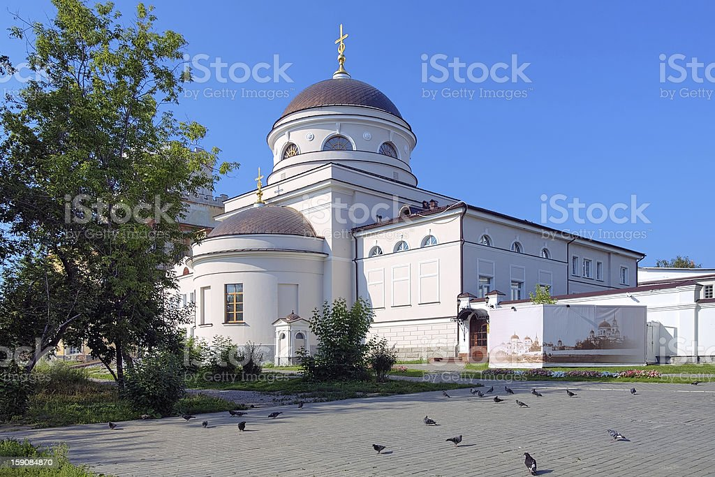 Church in the Novo-Tikhvin women's monastery of Yekaterinburg royalty-free stock photo