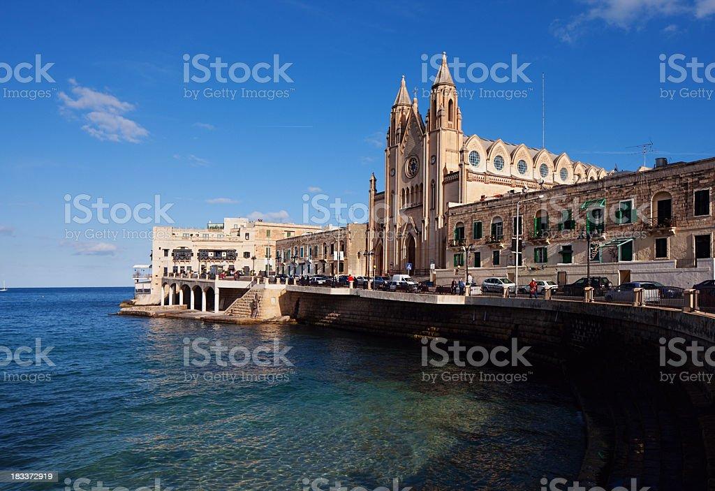 Church in the Sea stock photo