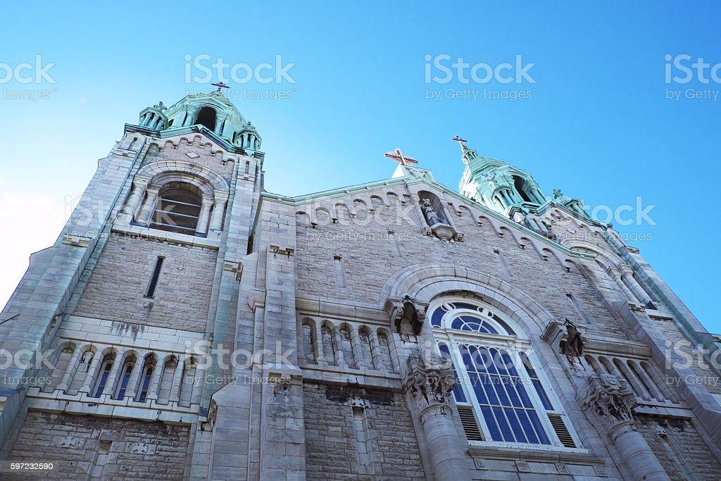 Church in the sky stock photo
