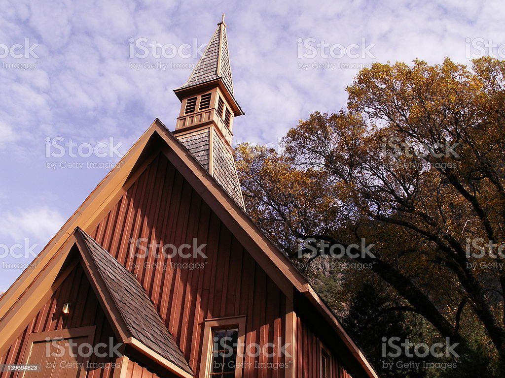 Church in the woods royalty-free stock photo