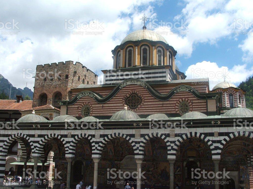 Church in the Yard of Rilski Monastery stock photo