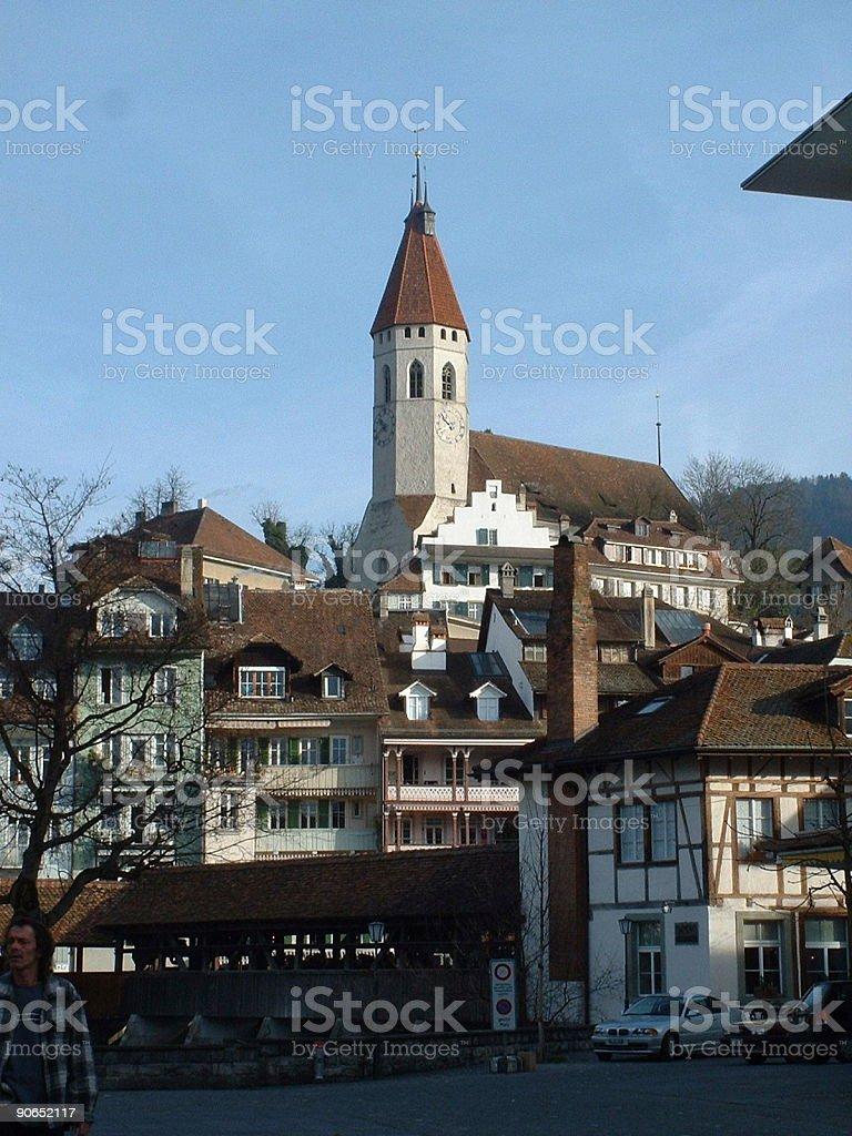 Church in Thun, Switzerland royalty-free stock photo