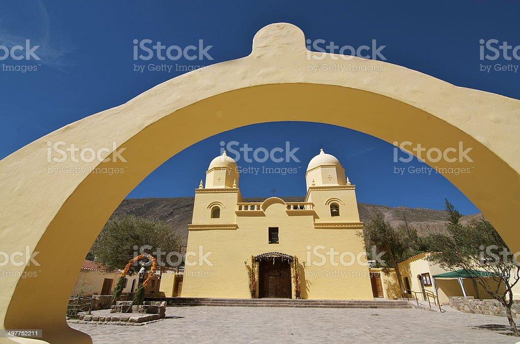 Church in Tilcara stock photo