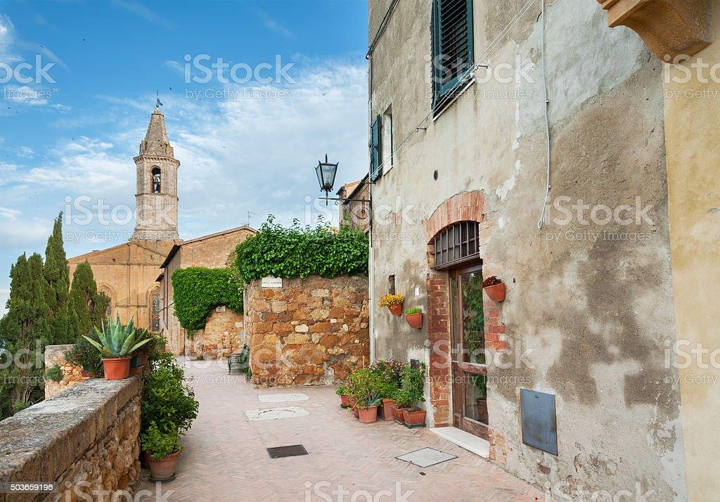 Church in Tuscany, Italy stock photo