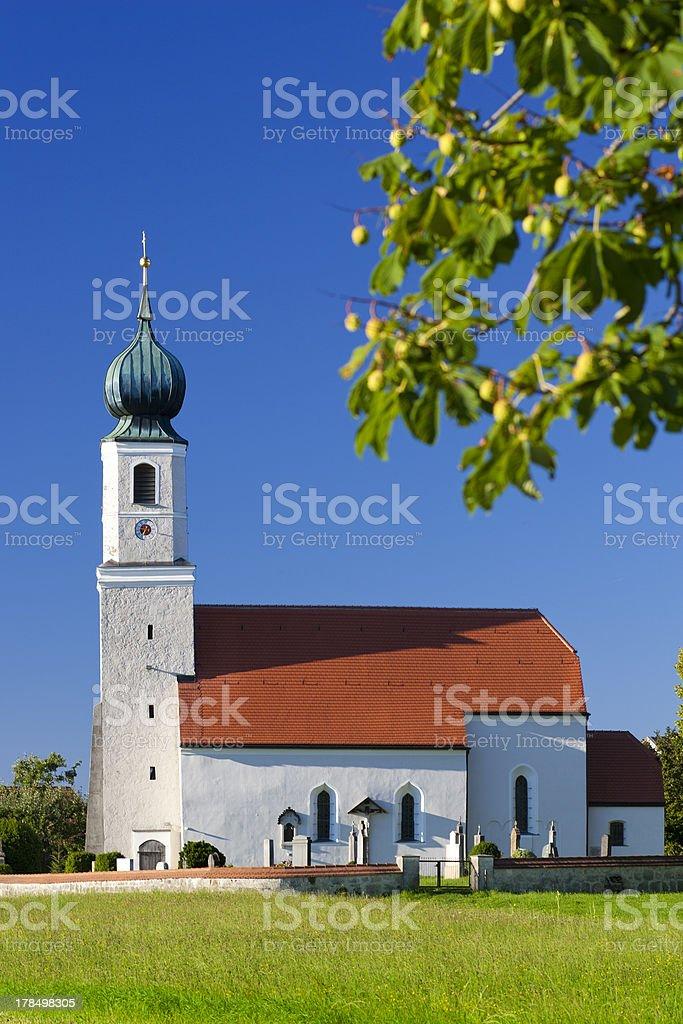 Church in Upper Bavaria stock photo