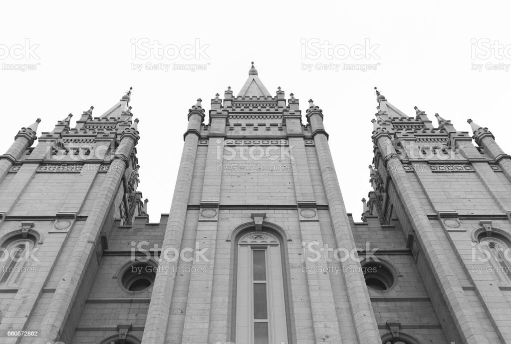 LDS Church in Utah stock photo