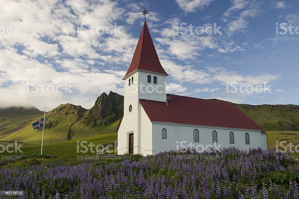 Church in Vík, Iceland stock photo