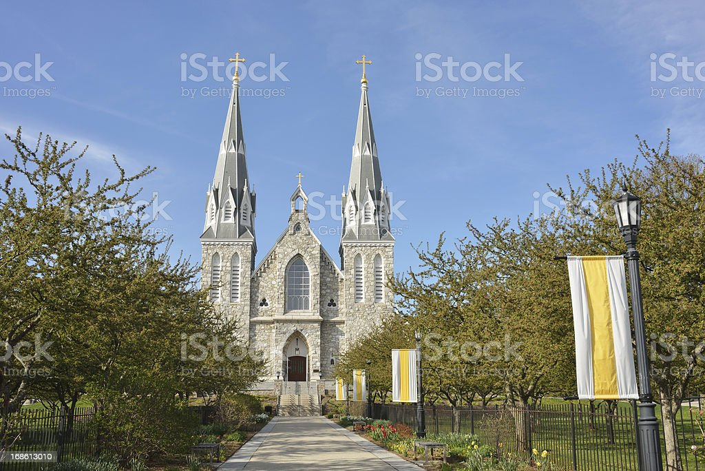 Church in Villanova University royalty-free stock photo