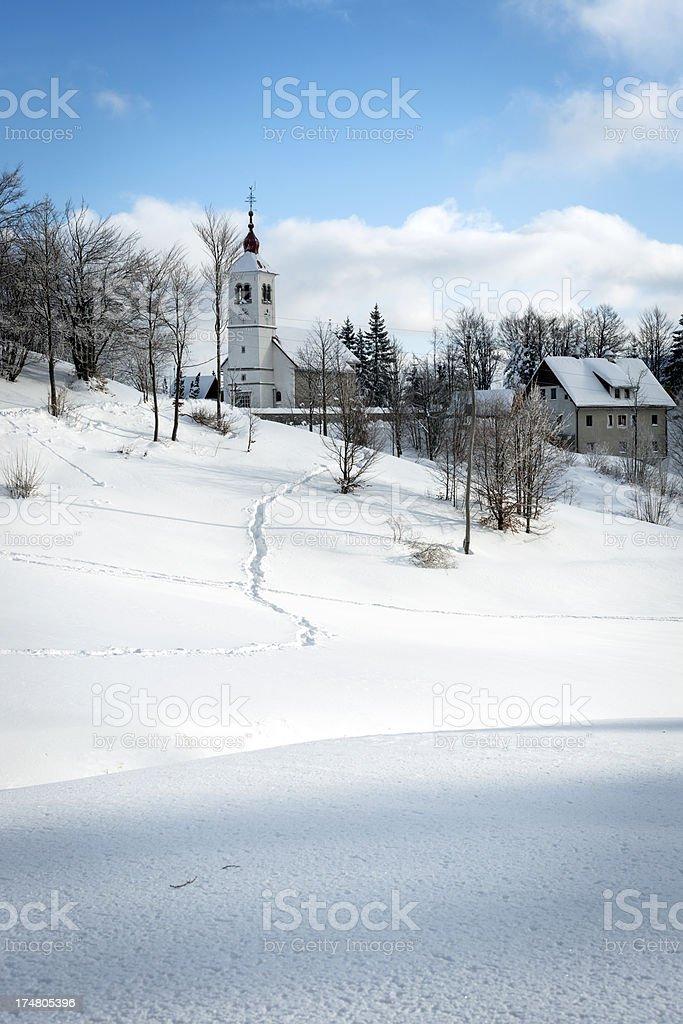 Church in Vojsko Village Slovenia Europe stock photo