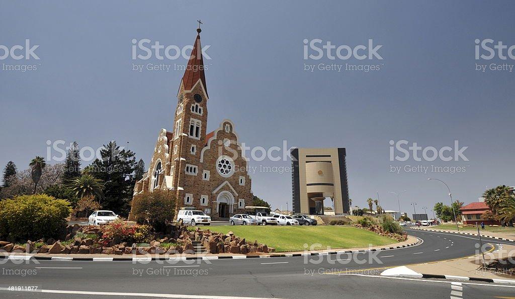 Church in Windhoek, Namibia stock photo