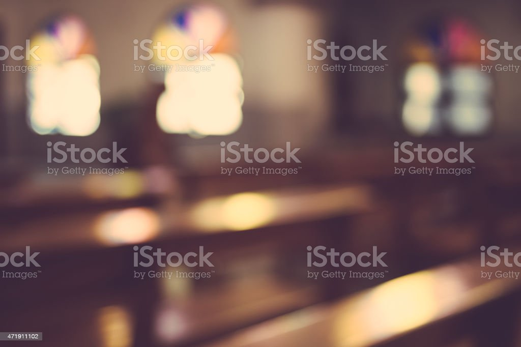 church interior blur abstract background stock photo