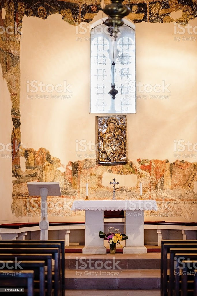 Church interior stock photo