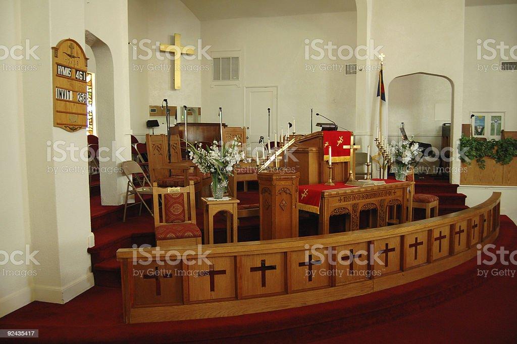 Church Interior stock photo