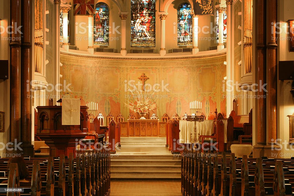 Church interior, Toronto stock photo