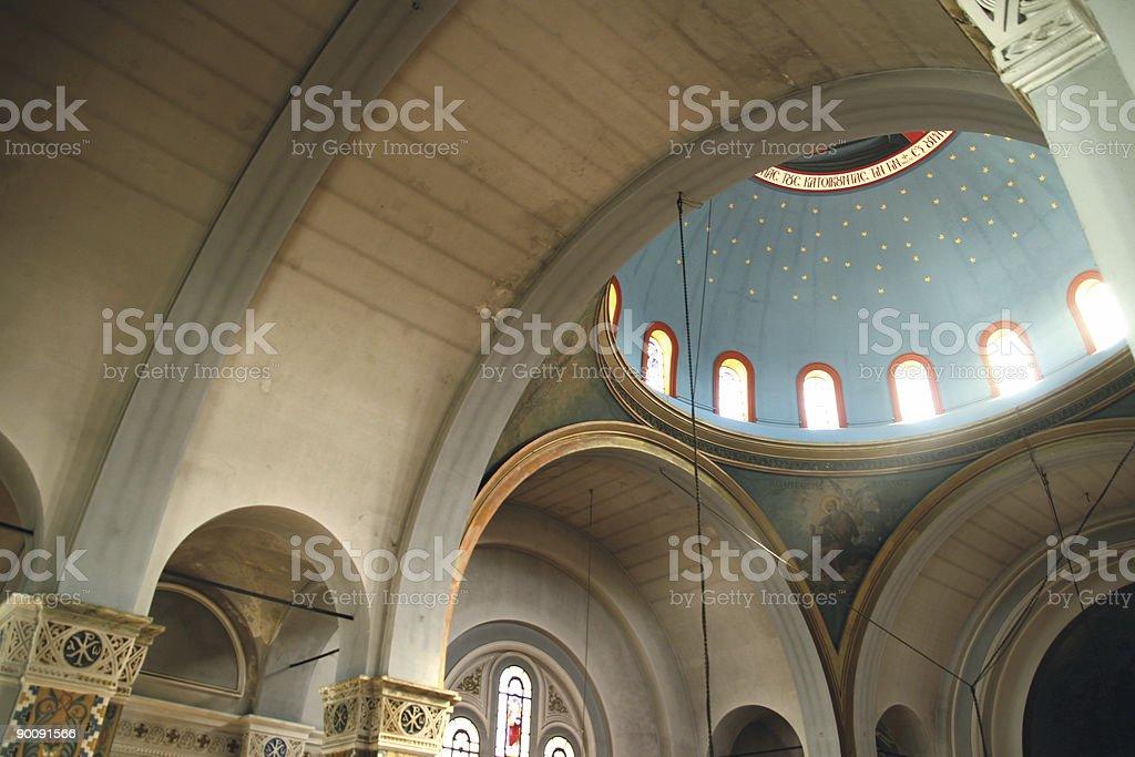Church internal dome royalty-free stock photo