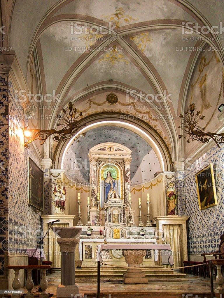 Church. John the Baptist in Ein Karem stock photo