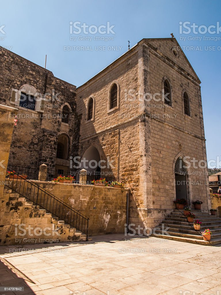 Church. John the Baptist, the forerunner of Jesus Christ stock photo