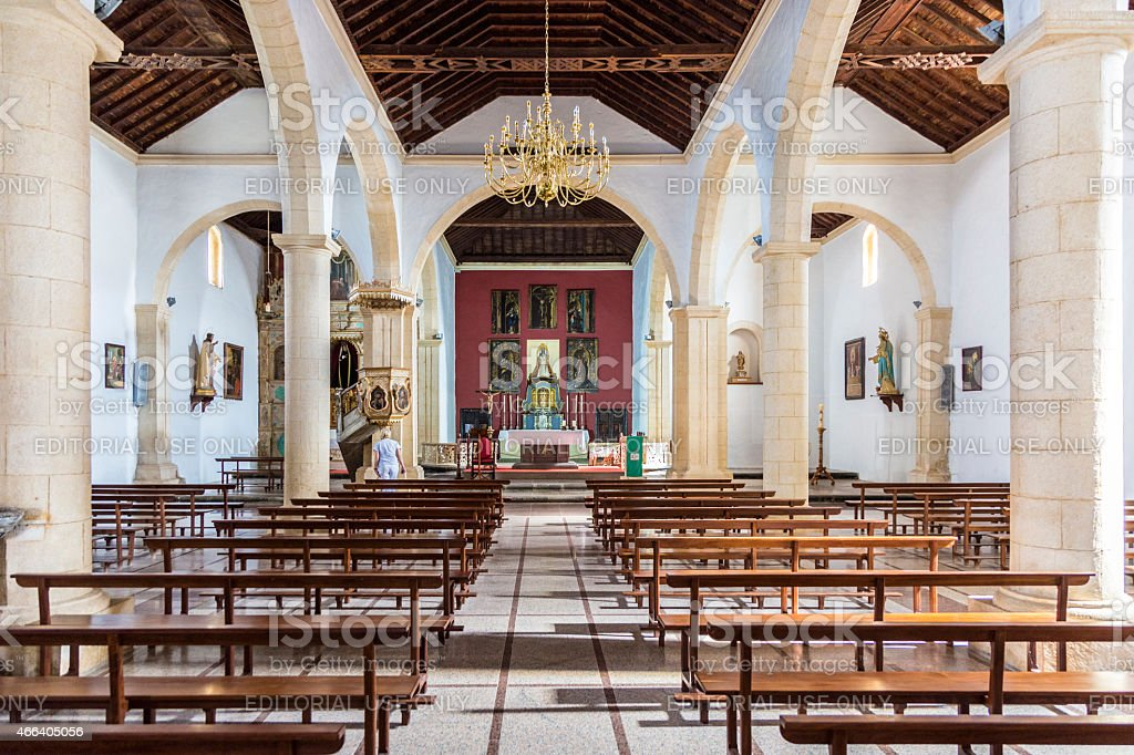 Church La Oliva Fuerteventura Las Palmas Canary Islands stock photo