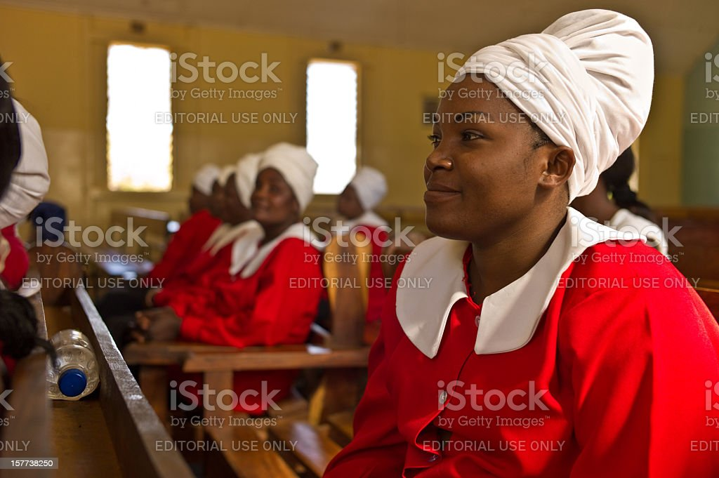 Church Lady, Lusaka stock photo