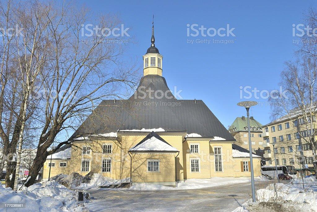 Church Lappee in Lappeenranta royalty-free stock photo