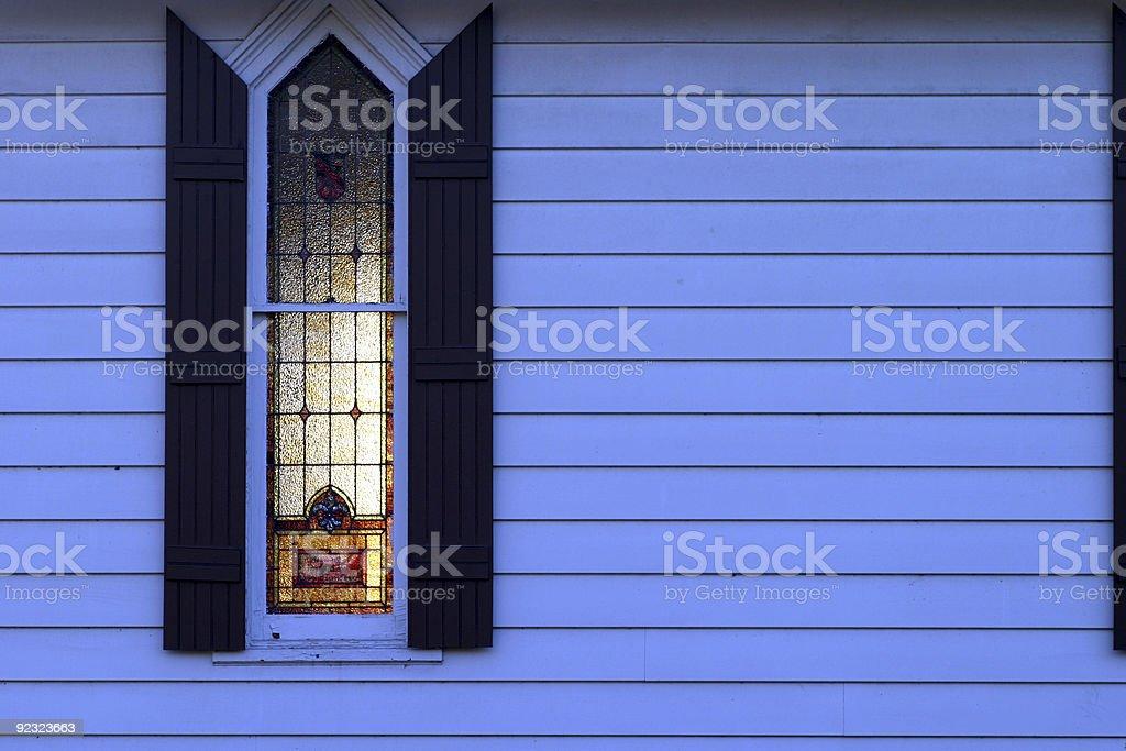 Church lights at night royalty-free stock photo