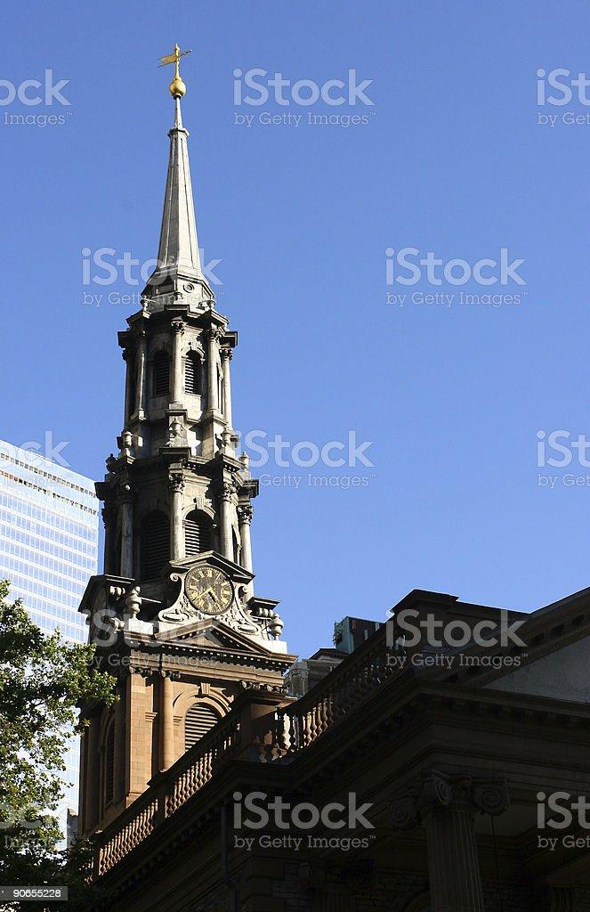 Church Lower Manhattan stock photo