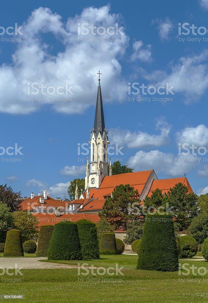 church Maria Hietzing, Vienna, Austria stock photo