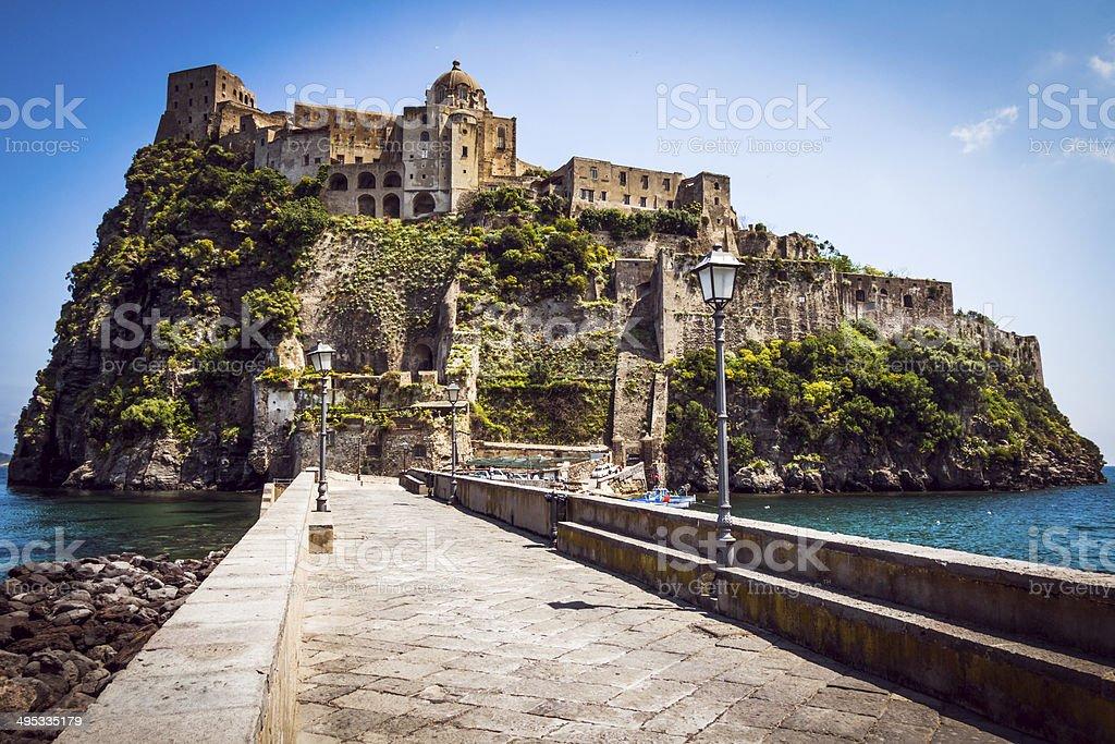 Church , Monastery of the island Ischia stock photo