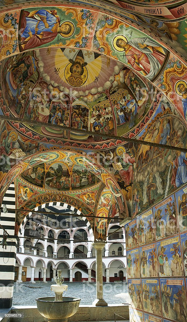 Church murals stock photo