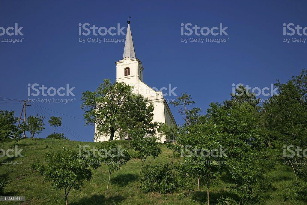 church near Balaton royalty-free stock photo