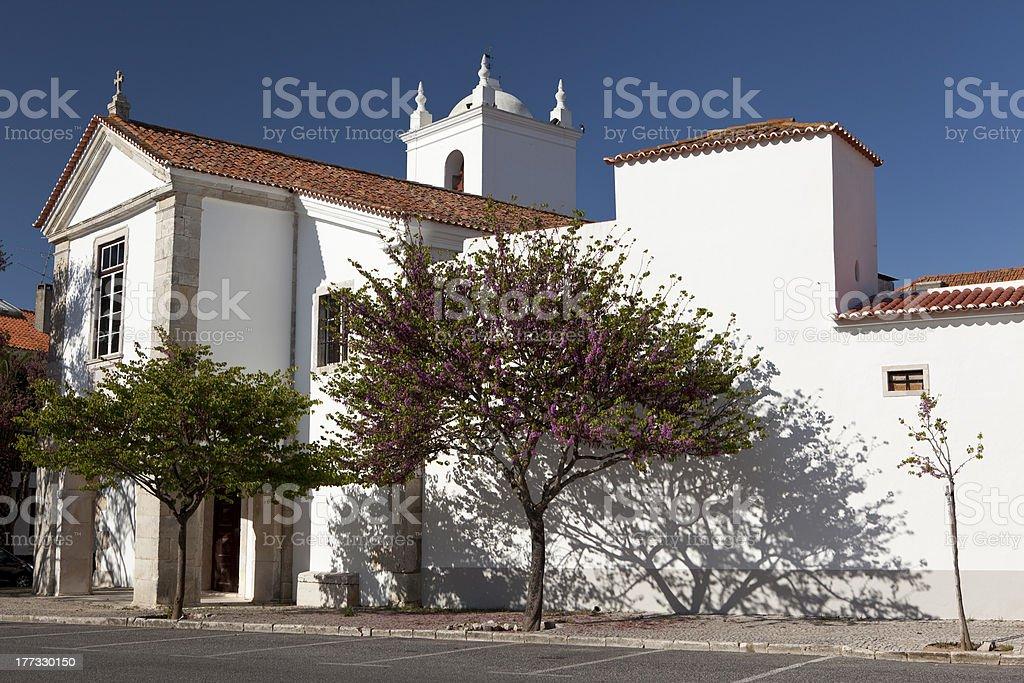 Church near Portas do Sol park in Santarem. stock photo
