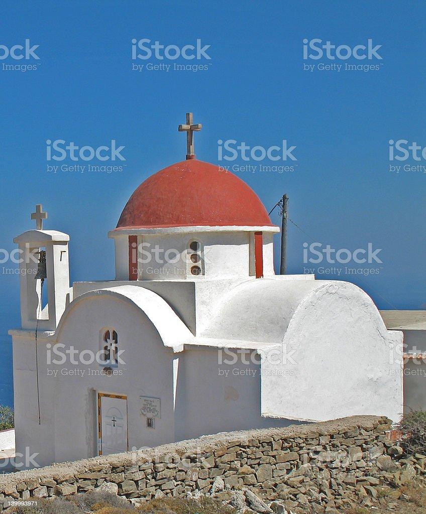 Church near the village of Spoa royalty-free stock photo