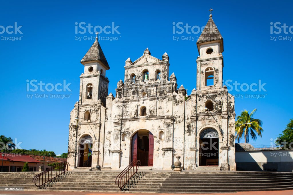 Church Nicaragua Granada Our Lady of Guadalupe stock photo