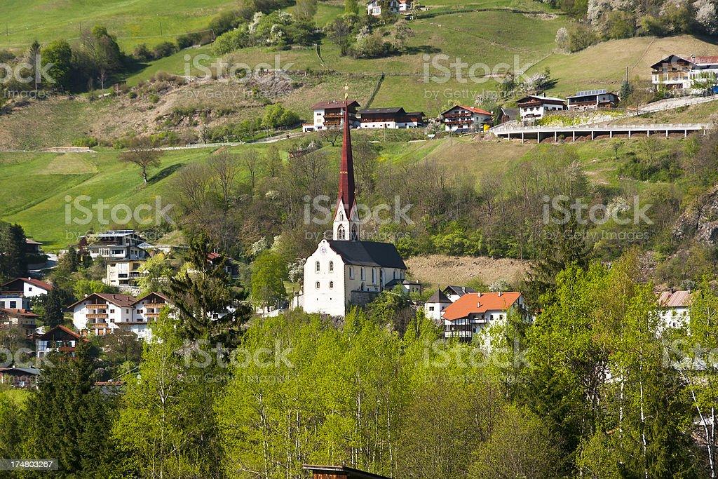 Church Of Ötz, Austria stock photo