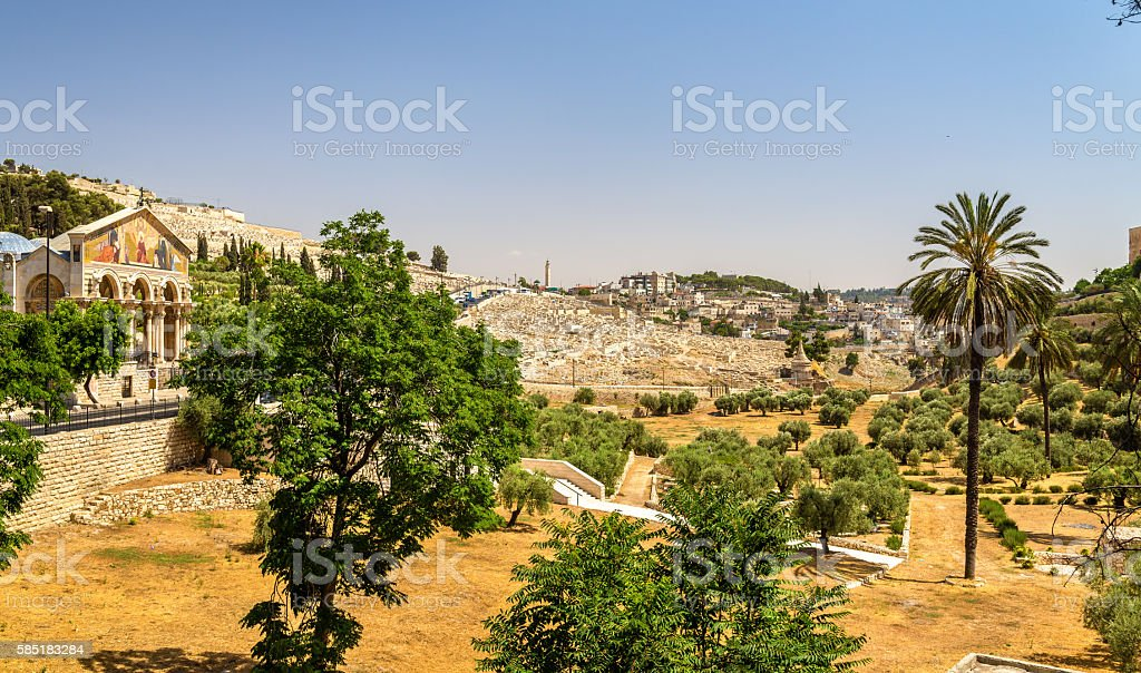 Church of All Nations in the Kidron Valley - Jerusalem stock photo