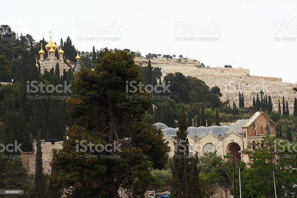 church of all nations on Mount  Olives royalty-free stock photo