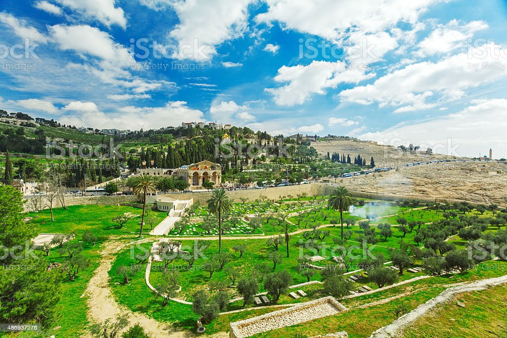 Church of All Nations on the Mount of Olives, Jerusalem stock photo