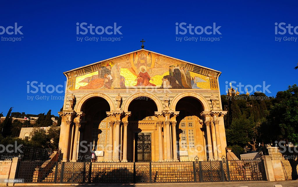 Church Of All Nations stock photo