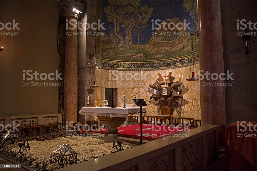 Church of all Nations Rock of Agony stock photo