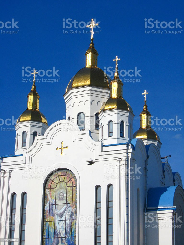church of all saints in Chernigiv stock photo