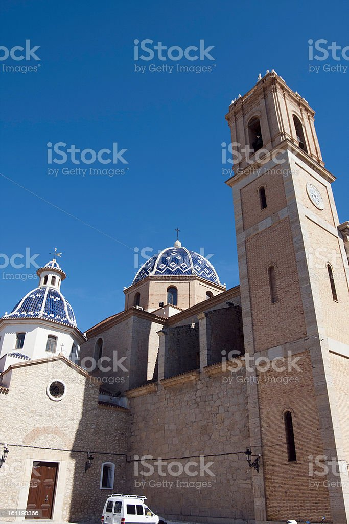 Church of Altea, Alicante royalty-free stock photo