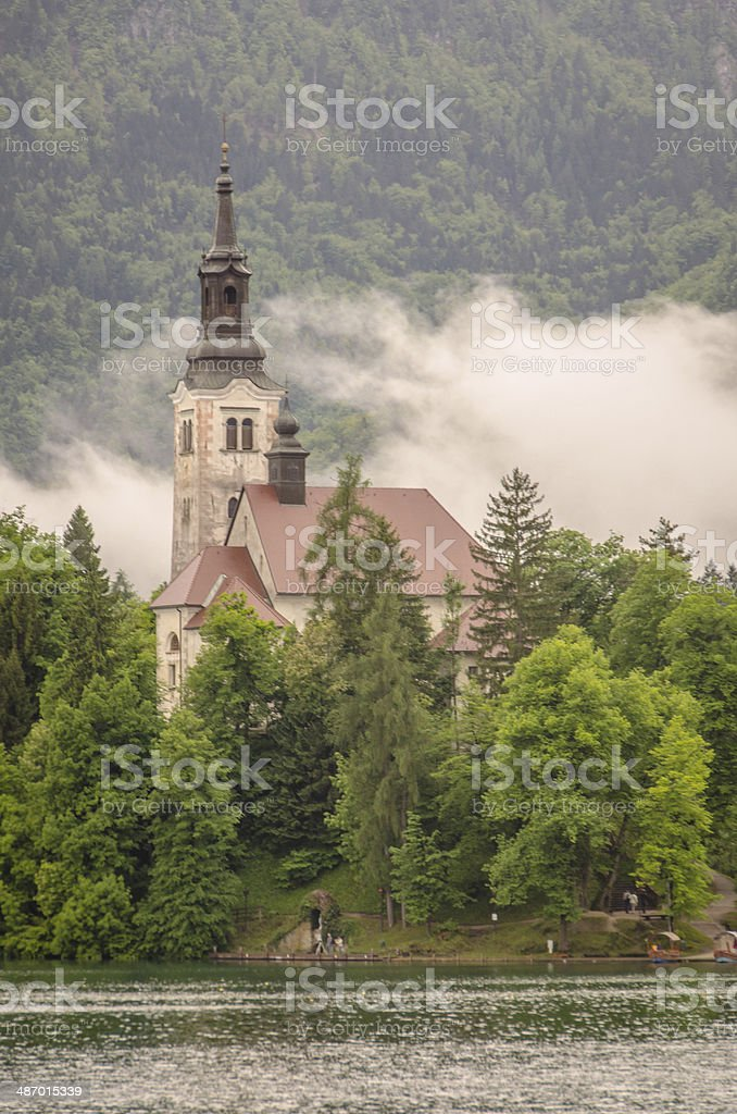 Church of Assumption, Lake Bled, Slovenia royalty-free stock photo