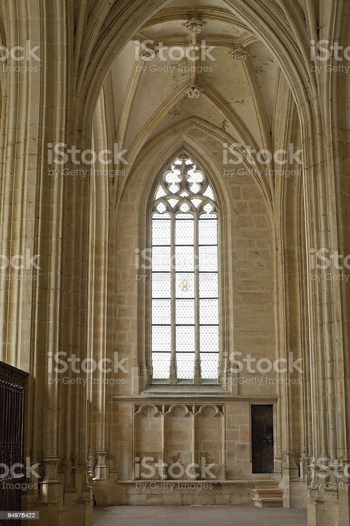 Church of Brou (Bourg-en-Bresse), interior stock photo
