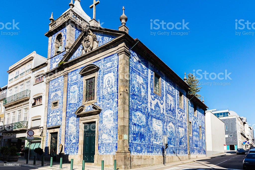 Church of 'Capela das Almas' in Porto stock photo