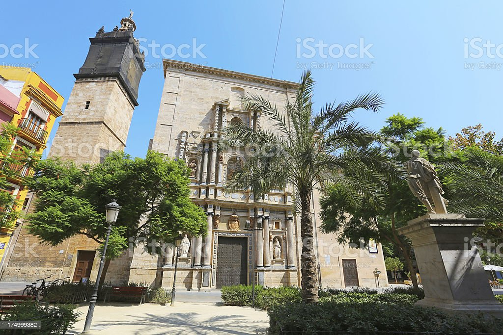 Iglesia del Carmen, Valencia stock photo